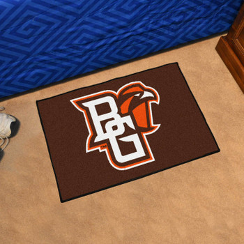 "19"" x 30"" Bowling Green State University Brown Rectangle Starter Mat"