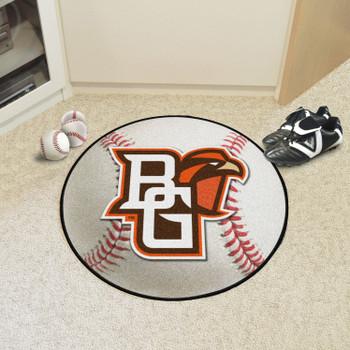 """27"""" Bowling Green State University Baseball Style Round Mat"""