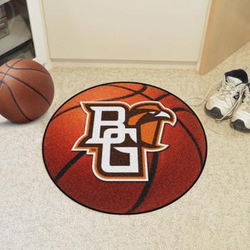 """27"""" Bowling Green State University Basketball Style Round Mat"""