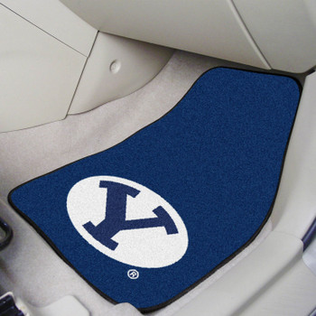 Brigham Young University Blue Carpet Car Mat, Set of 2