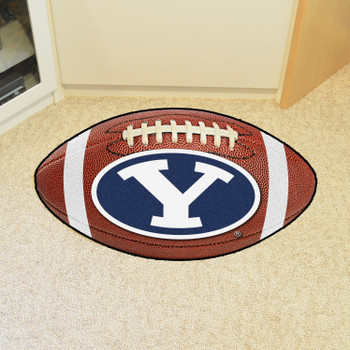 "20.5"" x 32.5"" Brigham Young University Football Shape Mat"