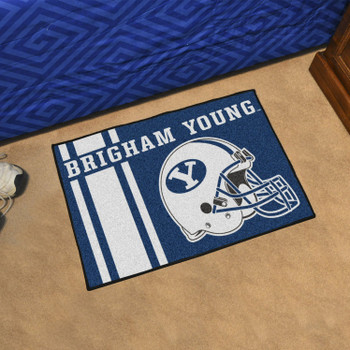 "19"" x 30"" Brigham Young University Uniform Blue Rectangle Starter Mat"