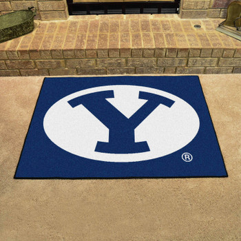 "33.75"" x 42.5"" Brigham Young University All Star Blue Rectangle Mat"