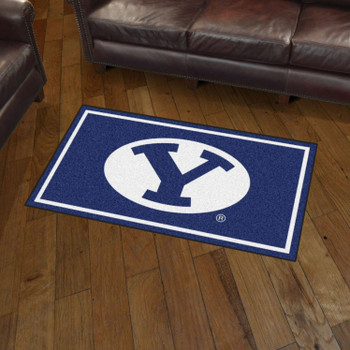 3' x 5' Brigham Young University Blue Rectangle Rug