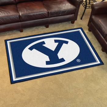 4' x 6' Brigham Young University Blue Rectangle Rug