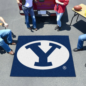 "59.5"" x 71"" Brigham Young University Blue Tailgater Mat"