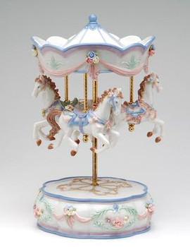 Merry-Go-Round Musical Music Box Sculpture