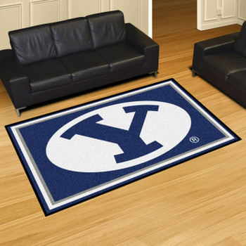 5' x 8' Brigham Young University Blue Rectangle Rug