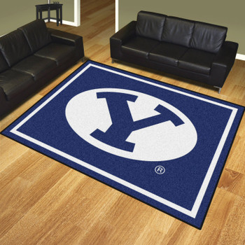 8' x 10' Brigham Young University Blue Rectangle Rug