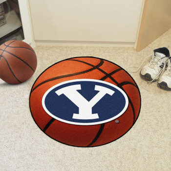 "27"" Brigham Young University Basketball Style Round Mat"