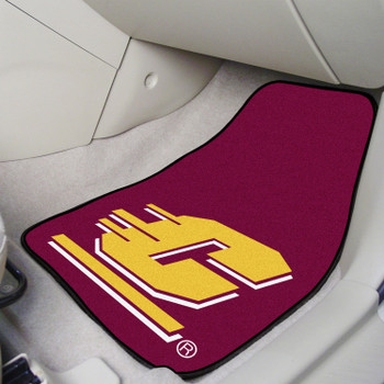 Central Michigan University Maroon Carpet Car Mat, Set of 2