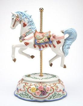 Tasseled Carousel Musical Music Box Sculpture