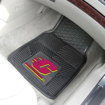 Central Michigan University Heavy Duty Vinyl Front Black Car Mat, Set of 2