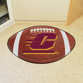 "20.5"" x 32.5"" Central Michigan University Football Shape Mat"