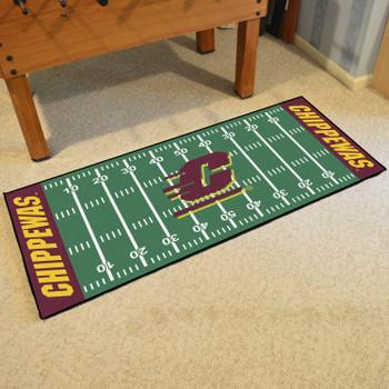 """30"""" x 72"""" Central Michigan University Football Field Rectangle Runner Mat"""