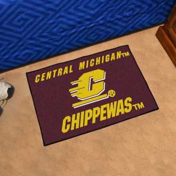 "19"" x 30"" Central Michigan University Maroon Rectangle Starter Mat"