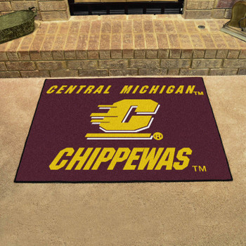"33.75"" x 42.5"" Central Michigan University All Star Maroon Rectangle Mat"