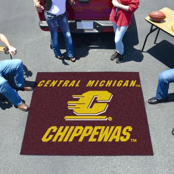"59.5"" x 71"" Central Michigan University Maroon Tailgater Mat"