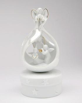 Angel Herald Porcelain Musical Music Box Sculpture