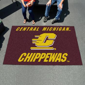 "59.5"" x 94.5"" Central Michigan University Maroon Rectangle Ulti Mat"