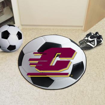 "27"" Central Michigan University Soccer Ball Round Mat"