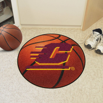 "27"" Central Michigan University Basketball Style Round Mat"