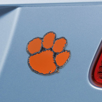 Clemson University Orange Color Emblem, Set of 2