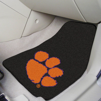 Clemson University Black Carpet Car Mat, Set of 2
