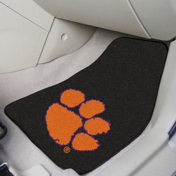 Clemson University Black Carpet Car Mat, Set of 2