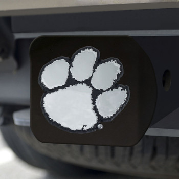 Clemson University Hitch Cover - Chrome on Black