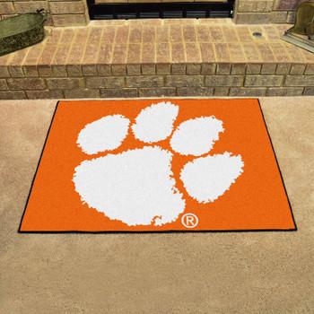 "33.75"" x 42.5"" Clemson University All Star Orange Rectangle Mat"
