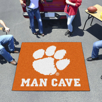 "59.5"" x 71"" Clemson University Man Cave Tailgater Orange Rectangle Mat"