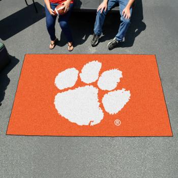 "59.5"" x 94.5"" Clemson University Orange Rectangle Ulti Mat"