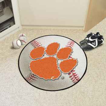 "27"" Clemson University Baseball Style Round Mat"