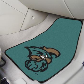 Coastal Carolina University Teal Carpet Car Mat, Set of 2
