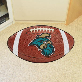 "20.5"" x 32.5"" Coastal Carolina University Football Shape Mat"