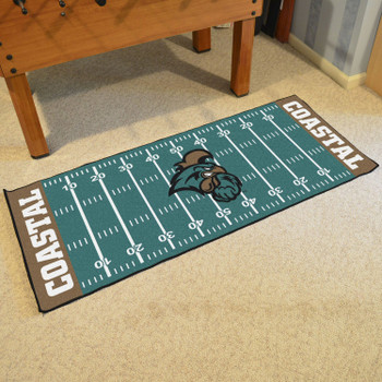 "30"" x 72"" Coastal Carolina University Football Field Rectangle Runner Mat"
