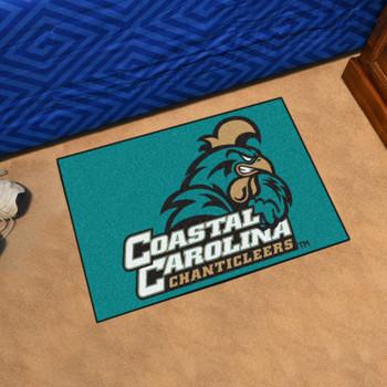 """19"""" x 30"""" Coastal Carolina University Teal Rectangle Starter Mat"""