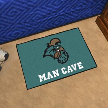 """19"""" x 30"""" Coastal Carolina University Man Cave Starter Teal Rectangle Mat"""