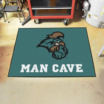 """33.75"""" x 42.5"""" Coastal Carolina University Man Cave All-Star Teal Rectangle Mat"""