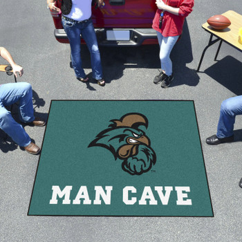 "59.5"" x 71"" Coastal Carolina University Man Cave Tailgater Teal Rectangle Mat"