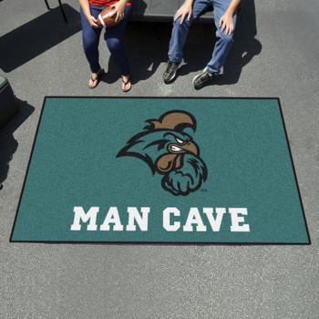 """59.5"""" x 94.5"""" Coastal Carolina University Man Cave Teal Rectangle Ulti Mat"""