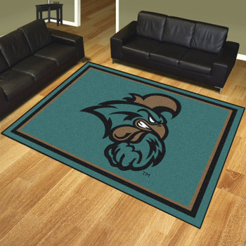 8' x 10' Coastal Carolina University Teal Rectangle Rug