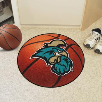 """27"""" Coastal Carolina University Basketball Style Round Mat"""
