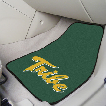 College of William & Mary Green Carpet Car Mat, Set of 2