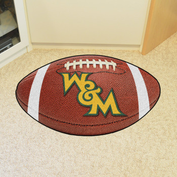 "20.5"" x 32.5"" College of William & Mary Football Shape Mat"