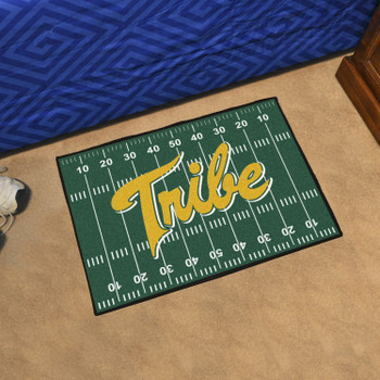 """19"""" x 30"""" College of William & Mary Green Rectangle Starter Mat"""