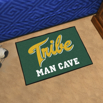 "19"" x 30"" College of William & Mary Man Cave Starter Green Rectangle Mat"