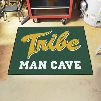 "33.75"" x 42.5"" College of William & Mary Man Cave All-Star Green Rectangle Mat"