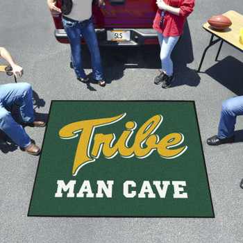 "59.5"" x 71"" College of William & Mary Man Cave Tailgater Green Rectangle Mat"